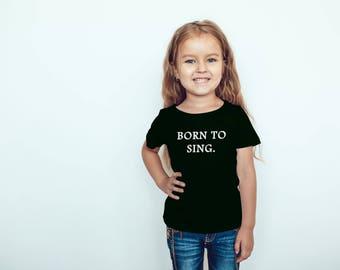 Kids Singing T-Shirt, Youth Singer Shirt, Child Singer Shirt, Youth Singing Quote, Kids Singing Quotes, Child Singer Quotes, Singing Shirts