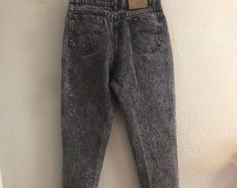 Vintage 80s Lee Riders Black Stonewashed Jeans