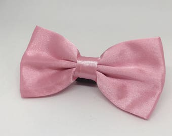 Pink Bowtie for Wedding Dog Outfit Pet Wedding Gray Bow Tie Dog Collar