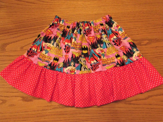 Superhero skirt,girls superhero skirt,supergirl skirt,superhero birthday,girls superhero birthday,toddler superhero,wonder women skirt