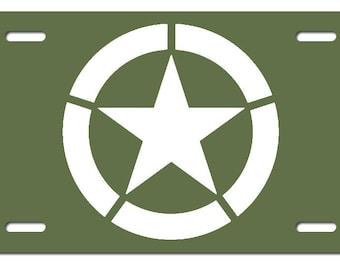 US ARMY INSIGNIA - Printed License Plate