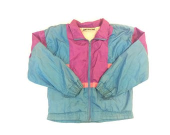 Vintage Neon Bright Windbreaker