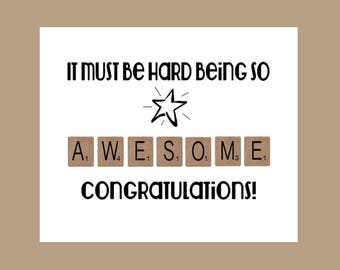New Job, Work Card Congratulations, Awesome Card, Well Done Card, Encouragement Card, Proud of You Card, You've Got This, You did it