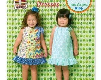 Kwik Sew Pattern. Kwik Sew   Cotton Pillowcae Dre with Bottom Ruffle Shortleeve Summer Play Outfit   Toddler Girl  # K0169
