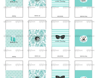 Printable Breakfast At Tiffany's Hershey's Miniatures Candy Wrappers