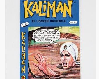 Kaliman El Hombre Increible No 93 El Asesino Invisible Revista en Español Spanish Comic RARE