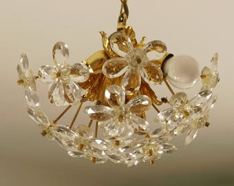 Small beautiful chandelier of the 50s 60s, Baguès Stejnar style