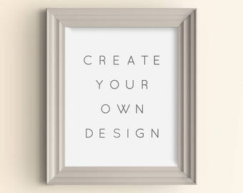 Made to order customized art print Personalized custom design art print Create your own design wall art Color quote of your choice art print
