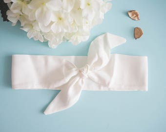 Head band style pinup style wide white - Vintage / retro