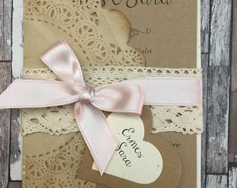 shabby country chic Wedding Invitations/10-model DESDEMONA