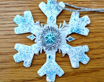 Snowflake Ornament - Hand Crafted - One of a Kind