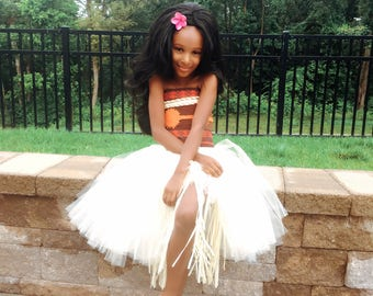 Moana inspired costume! One piece or 2, your choice. Set sail in this adorable adventurous costume. Hula TuTu! . Even The ancestors approve!