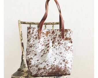 LARGE TOTE Speckled Hair-on • Calf Hair Leather Everyday Bag