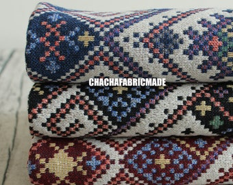 Aztec Fabric,Geometric Fabric,Blanket Fabric,Thick and Weight,3 Colors Available,Half Yard