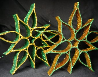 Upcycled Snowflake Ornaments
