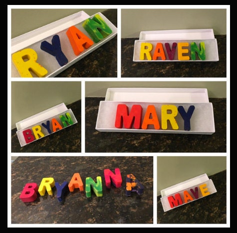 Personalized crayon names