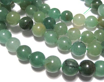 1 Strand 10mm Round Natural Green Aventurine Gemstone Beads