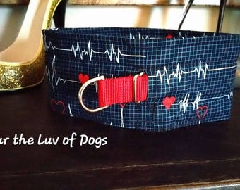 "Sweetness Collar, Choker, ""Heart Beat""  Sweetness Dog Collar Kindness Choke Collar"