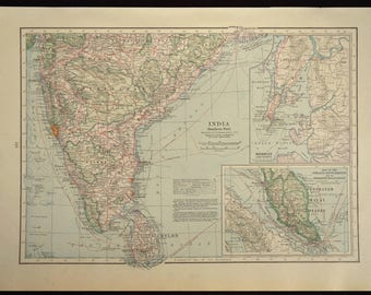 Southern India Map South India Railroad Map Bombay Ceylon