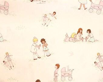 Fabric - Michael Miller - Dolls - medium weight woven cotton fabric.