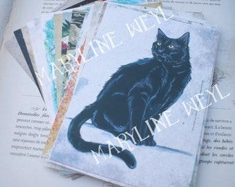 Set of 20 postcards (CAT, dragon, Wolf, Unicorn, Phoenix, Fox)