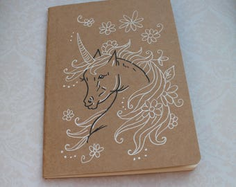 "Sketchbook - notebook Kraft ""Unicorn"""