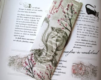 beautiful white Chinese dragon bookmark