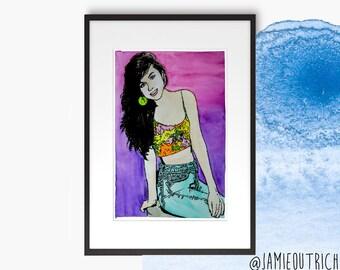 Kelly Kapowski Watercolor Print