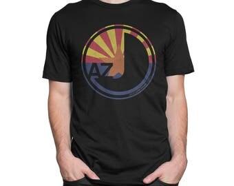 Arizona Flag Shirt, Graphic Tees For Men, T-shirt