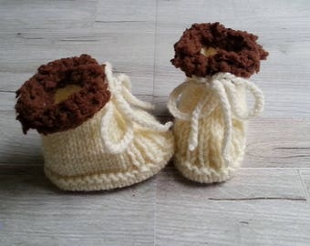 slippers woolen baby / birth in 1 year / hand-knitted slippers baby / baby cloth naps baby / life jacket naps / present birth