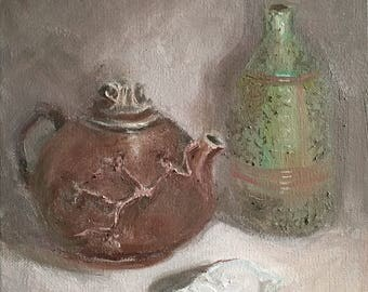 Chinese Teapot and Persian Bottle