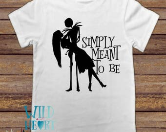 Simply Meant to Be Jack and Sally Shirt, Disney Halloween Shirt, Nightmare Before Christmas Shirt, Jack and Sally, Halloween Disney Shirt