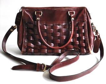 Vintage Leather Woven Bag Diamicci