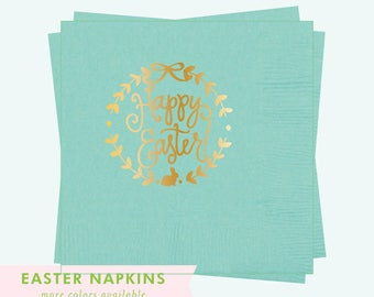 Happy Easter Wreath - Easter Napkins (Qty 25)