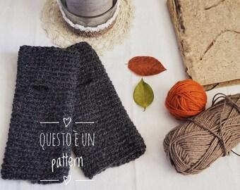 Pattern - Crochet Pattern - guanti senza dita - pattern guanti - pattern fingerless mittens - fingerless - crochet pattern