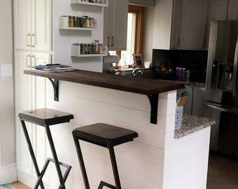 Bar Stool Modern Zen Wood Bar Furniture Handmade Custom