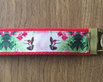 Hummingbird Key Chain Zipper Pull Wristlet