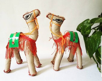 Hand Made Camels Figurines // Boho Home Decór