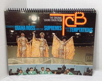 Diana Ross & Supremes with Temptations Album Cover Notebook Handmade Spiral Journal
