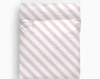 Pink Duvet Cover, Girls Bedroom Decor, Teen Girl Room Decor, Pink Bedding, Duvet Cover Queen, Twin Bedding, Striped Duvet Cover, Pink, Ikat