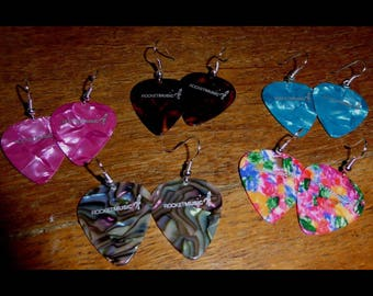 Plectrum (guitar pick) earrings