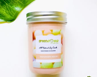 Honeydew Melon Scented Soy Candles