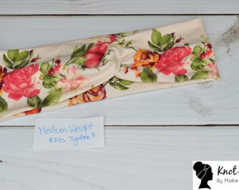 Ready to Ship Salmon Floral on Cream