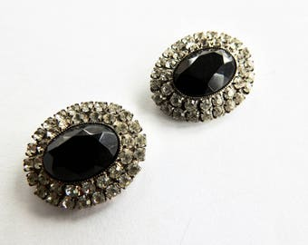 Must Black and Clear Rhinestone Shoe Clips
