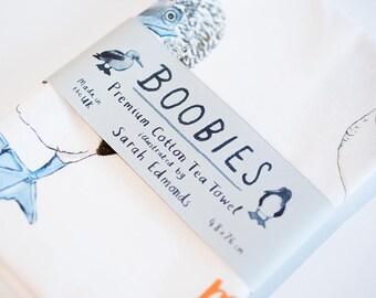 Boobies Tea Towel - Funny galapagos bird chart - TT02