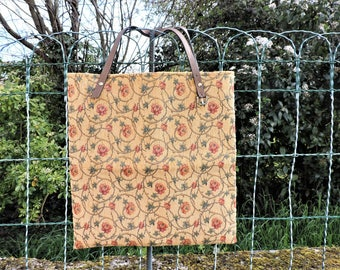 TOTE FABRIC UPHOLSTERY /ANSES LEATHER (RECYCLED)