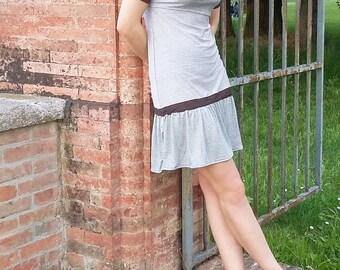 Gray/Brown Jersey dress