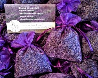 "12  Lavender Sachets 3 x 4"" . Wedding favors. Bridal shower, Baby shower. Organza lavender sachets"