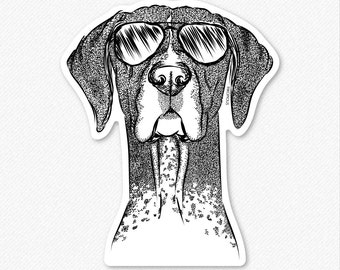 Mattis the German Shorthair Pointer Decal Sticker, Gifts For Dog Owner, GSP, Hunting Dog