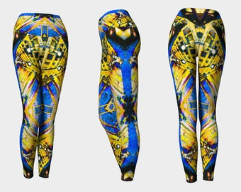 06414 Yoga Leggings: Under the Bridge Photography. Yoga Tights, Running Tights